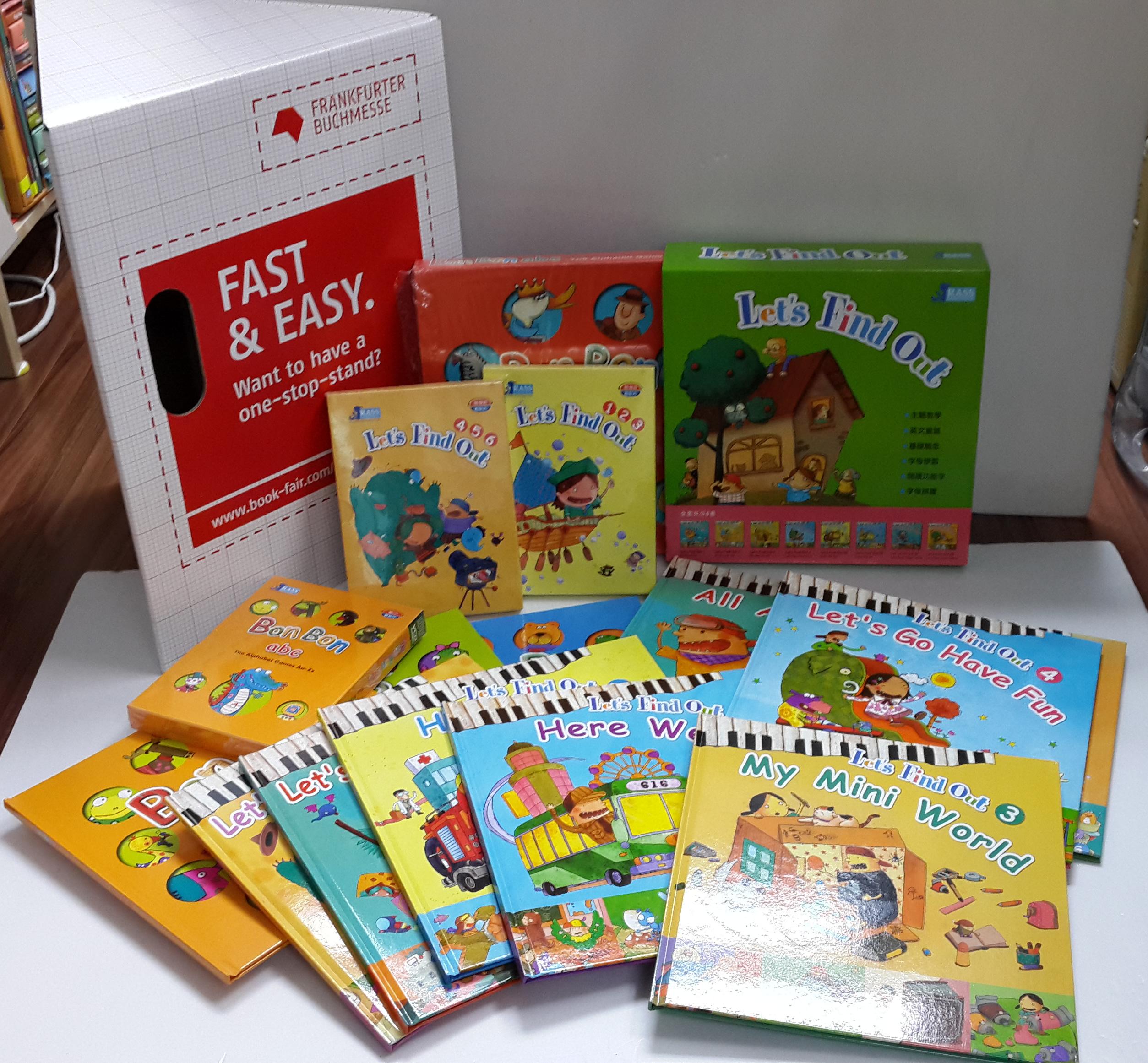 以$2650購買Let's Find out + Bon Bon Abc (11Books + 6DVD +1VCD +1CD ) (英文 / 普通話雙語點讀圖書 ) (原價$2750 ) !! 住宅及工商送貨