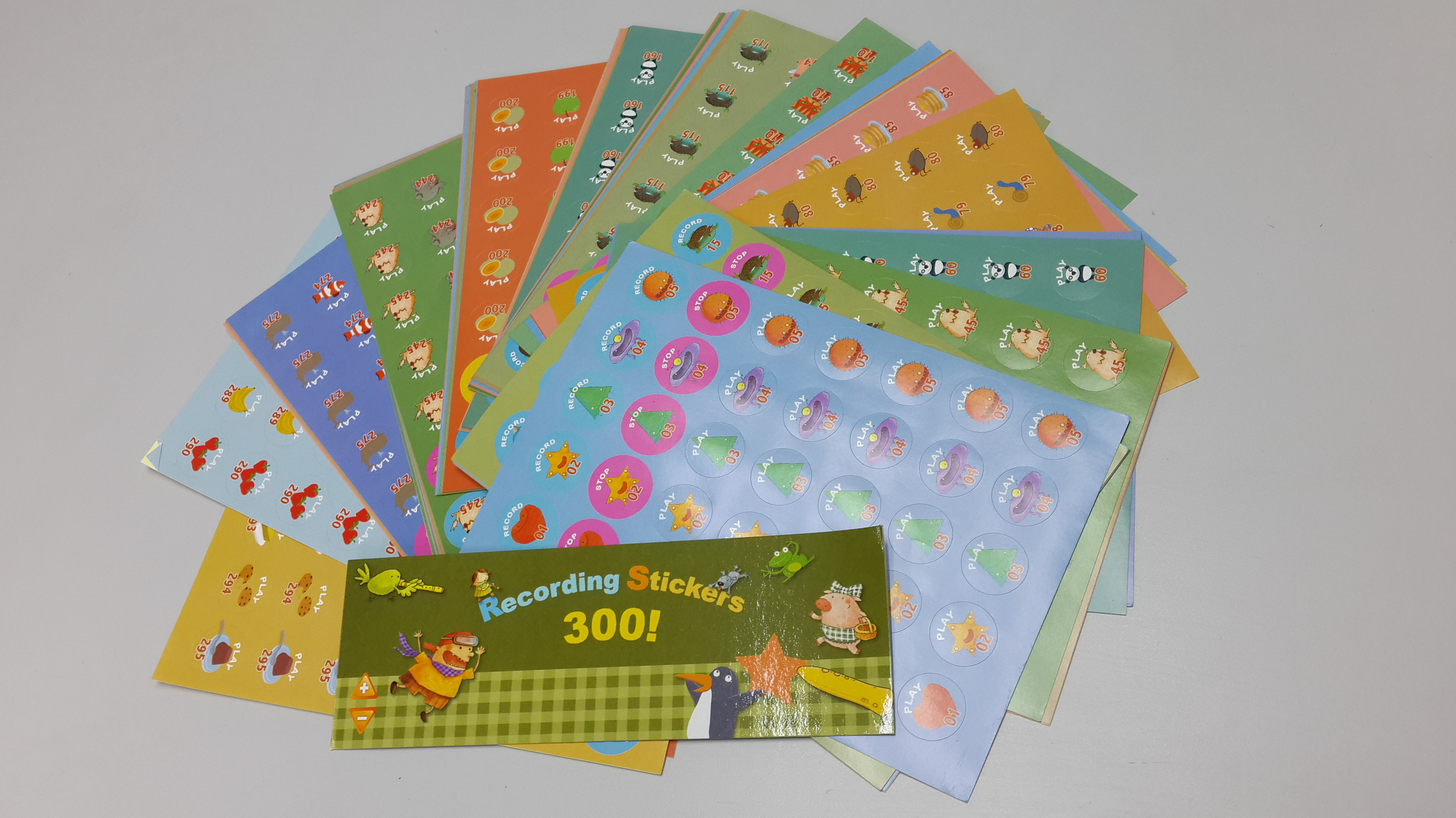以$ 225購買 RASS LANGUAGE Recording Stickers 300 pcs 錄音貼紙 █免費工商送貨