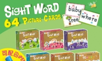 Hello! RASS 全新點讀「常見字字圖卡」 220 Sight Word Card Level 1 - 5 + Dolch Nouns Cards * 對應iPEN 點讀筆 !