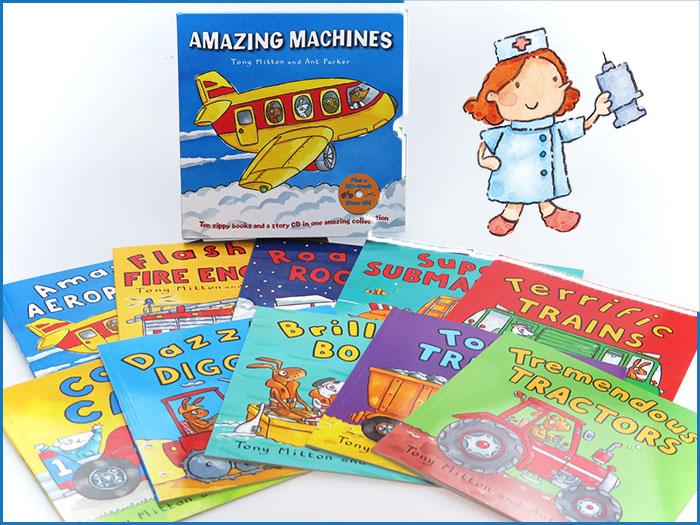 Amazing Machines 神奇交通工具繪本一套 10本連故事 CD