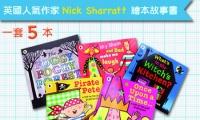 暢銷童書繪者  Nick Sharratt 繪本故事書一套 5 本