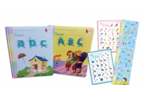 Dear ABC ( 2 Books + 1 DVD + 1 CD + 2 Posters + 1 身高尺 **可對應 RASS LANGUAGE 點讀筆使用