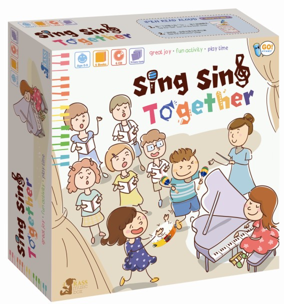 Sing Sing Together ( 6 Books 6 CD 78 game cards ) * 適合0-9歲  免費工商及住宅送貨