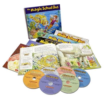 紐約時報評比-最新鮮有趣、最富創意想像的科學啟蒙方式 *Magic School Bus Classic Box Set with CD (6 Books)
