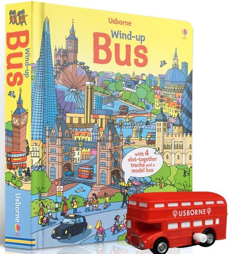 Usborne Wind-up BUS **閱讀動起來!搭乘紅色雙層巴士 探索最精采的倫敦