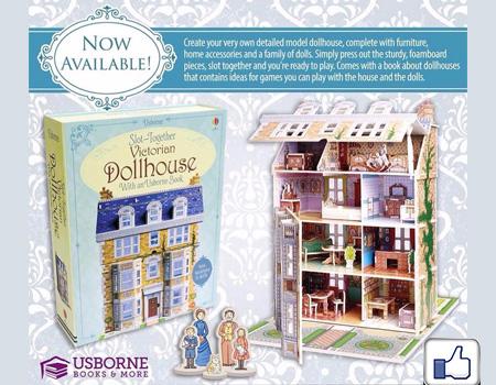 Usborne 立體模型 維多利亞豪華大宅   Slot-together Victorian doll's house