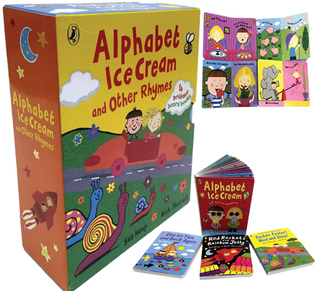Alphabet Ice Cream and Other Rhymes 一套四本 **各有主題 A-Z, 1-10, 顏色及相反詞