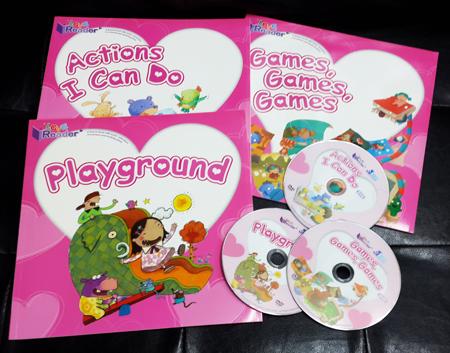 Baby Readers Pink Set ( 3 books + 3 DVD + 24 Flash Cards ) ** 對應RASS LANGUAGE 點讀筆
