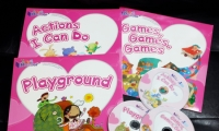 Baby Readers Pink Set ( 3 books + 3 DVD + 24 Flash Cards ) ** 對應RASS LANGUAGE 點讀筆