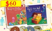 Sing-to-Talk + Story-for-Bed *2 books + 2 DVD + 2 CD》適合1-8歲