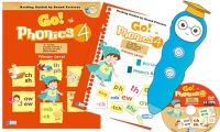 Go Phonics Level 4 ( 2Books + 1 DVD ) 香港大學何瑞清博士傾力著作 *免費工商及住宅送貨