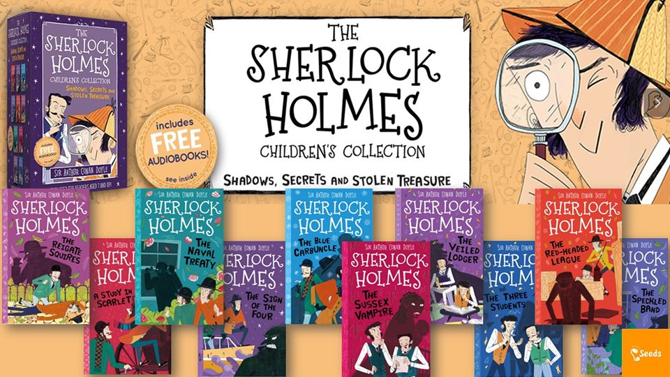 兒童版經典偵探小說 福爾摩斯 The Sherlock Holmes Childrens Collection Shadows Secrets and Stolen Treasure