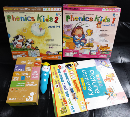 2020年香港書展優惠 iPEN 16GB充電版點讀筆 +Phonics Kids Level 1 - 6 (12 Books+9 DVD+ 9 CD+6 Posters+ 779 Flash Cards  )+Picture Dictionary