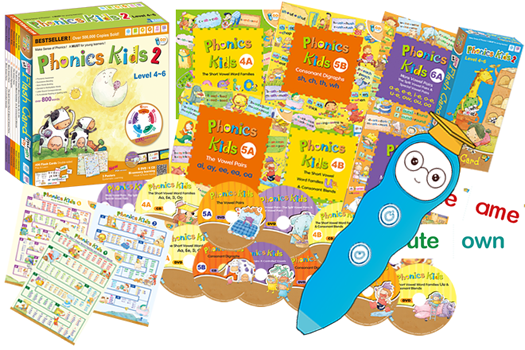 網上書展- 免費送貨 iPEN 16GB充電版點讀筆 +Phonics Kids Level 4-6 (6 Books+6 DVD+ 6 CD+6 Posters+ 406 Flash Cards )