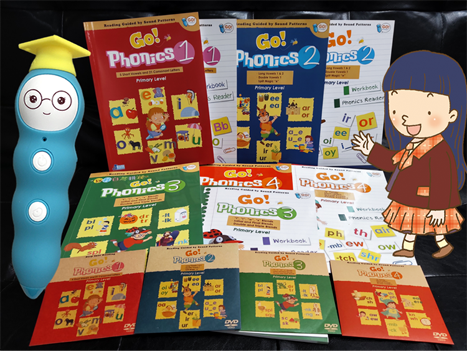 Go Phonics Level 1+2+3+4 ( 4Books +4Workbook +4Posters + 4DVD ) 香港大學何瑞清博士傾力著作 *免費工商及住宅送貨