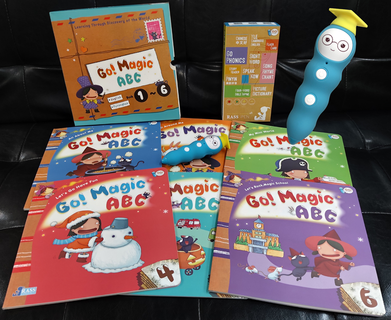 拭目以待 ! 預售 iPEN 點讀筆 + Go! Magic ABC (Let's Find out ) 6Books +隨機贈字卡二盒 *免費順豐送貨